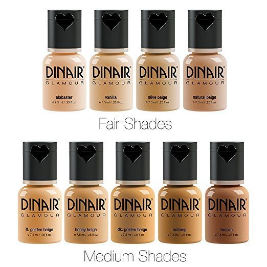 Dinair Airbrush foundations
