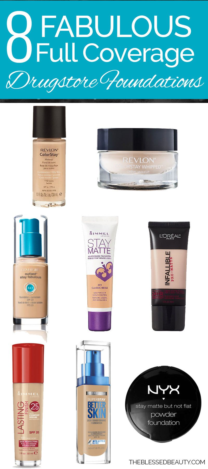 full coverage drugstore foundations