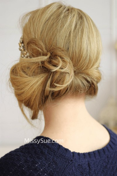 Quick and Easy Elegant Gatsby bun