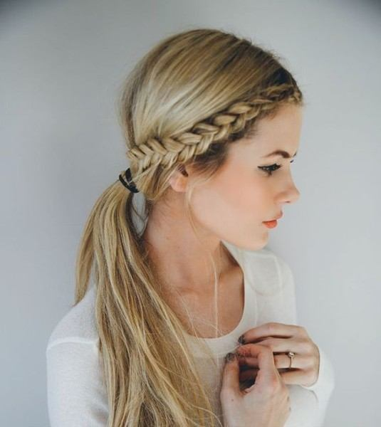 Quick and Easy front row braid hairstyle hack