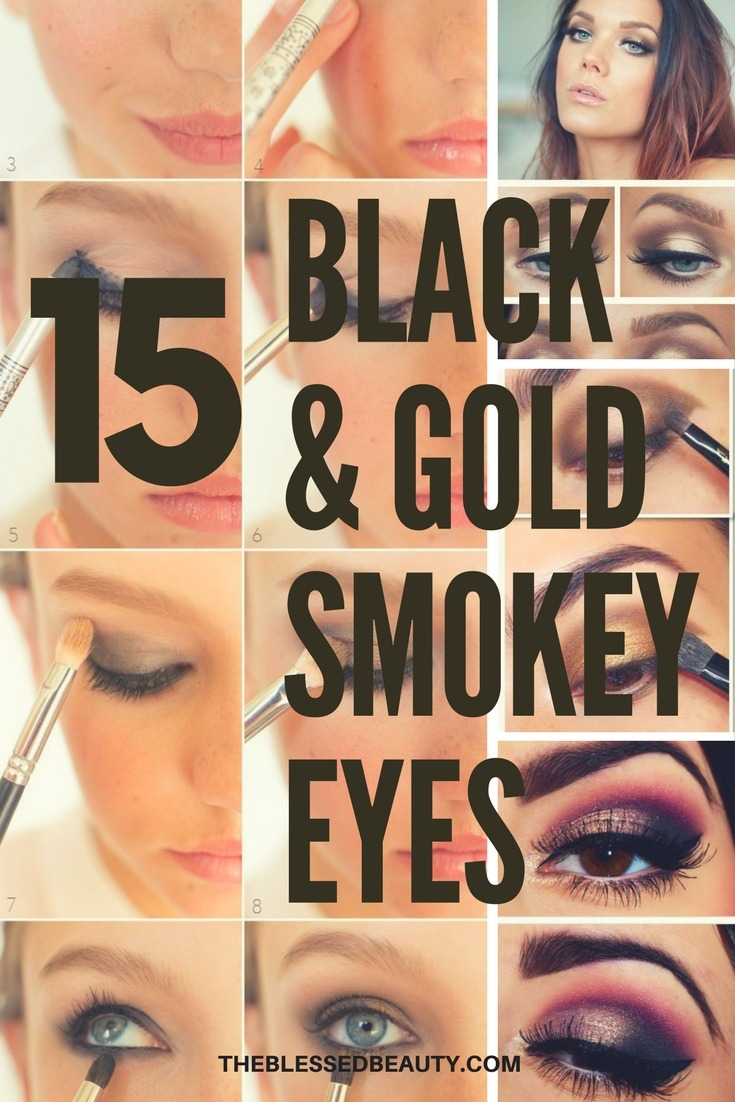 Gold And Black Smokey Eye Tutorials Best Gold And Black Eye Shadow