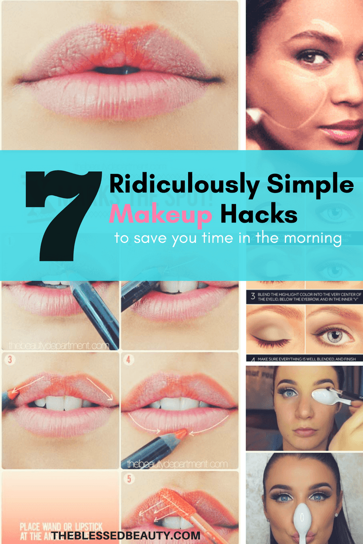7 Simple Makeup Hacks to save you time in the morning - pinterest