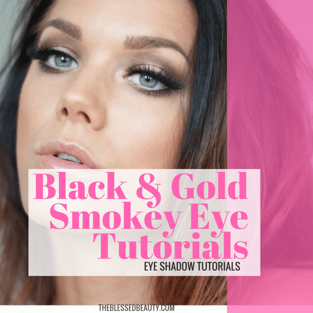 Black and Gold Smokey Eyeshadow Tutorials