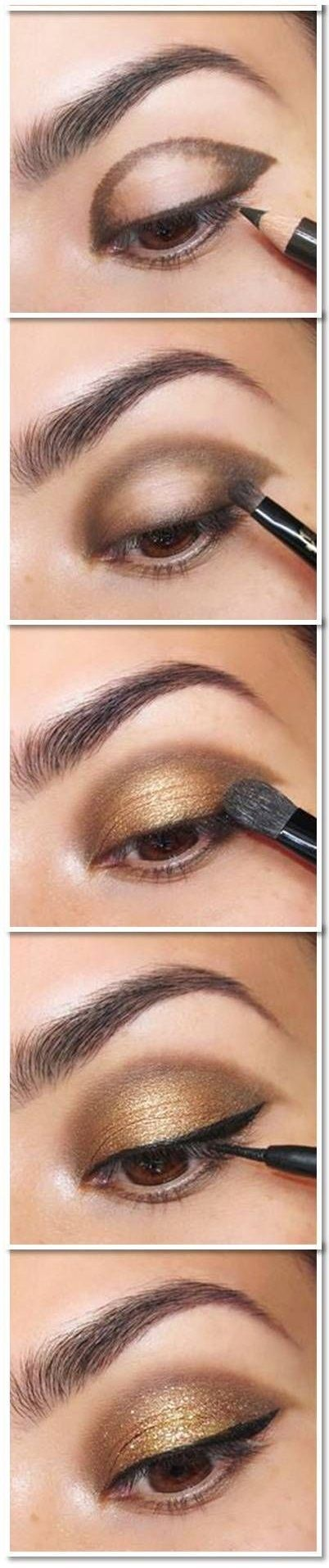 Brown-and-Gold-Eye-Shadow