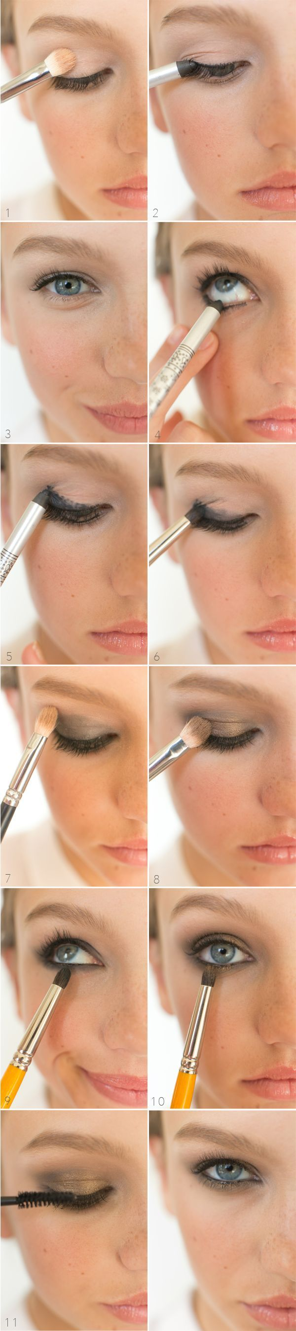 Gold and black smokey eye tutorials best gold and black eye natural smokey eyeshadow tutorial baditri Gallery