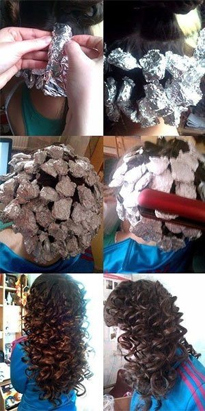 curls-using-alumnium-foil-flat-iron