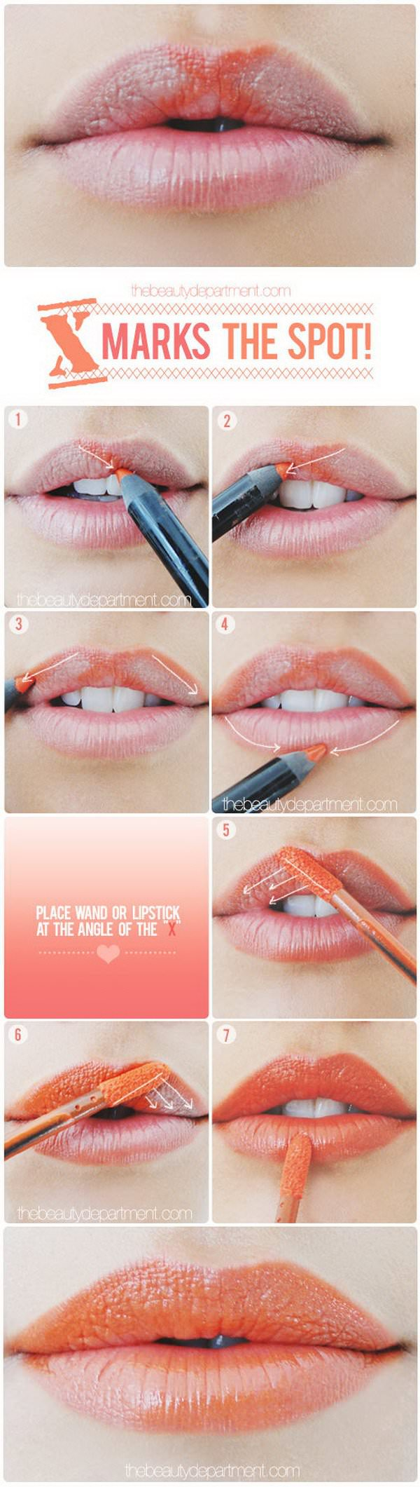 x lipstick hack for the perfect cupids bow
